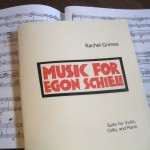 Score book for the suite for Violin, Cello, and Piano; Mail order here